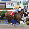 Happy My Way wins the 2014 Sir Shackleton Stakes at Gulfstream Park. <br /> Coglianese Photos/Leslie Martin