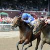 Better Lucky wins the Shine Again Stakes 7/21/2014.<br /> Coglianese Photos/Adam Mooshian