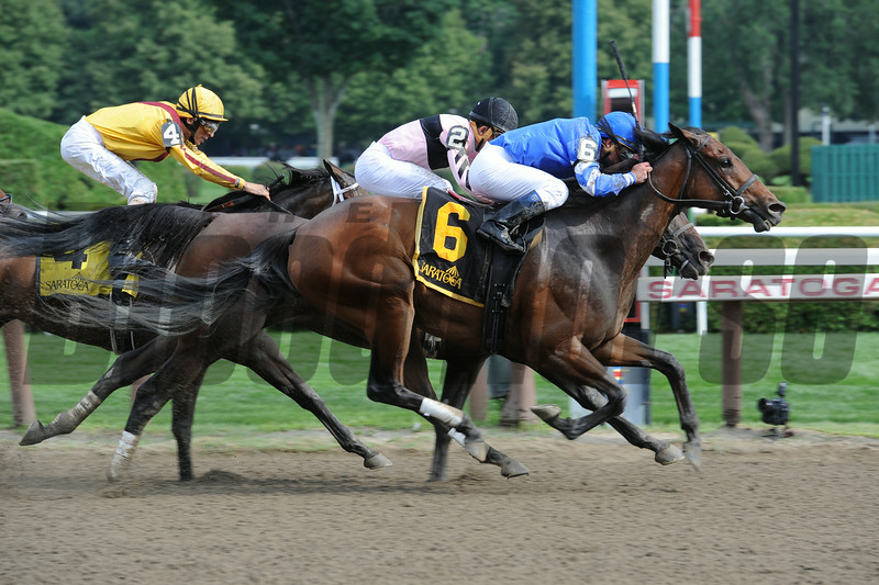 Better Lucky wins the Shine Again Stakes 7/21/2014.<br /> Coglianese Photos