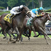 Big Trouble wins the 2014 Sanford Stakes at Saratoga.<br /> Coglianese Photos