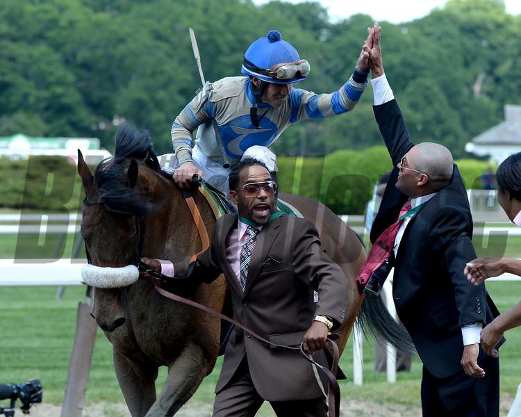 Sweet Reason wins the 2014 TVG Acorn Stakes at Belmont Park.<br /> Coglianese Photos/Lauren King