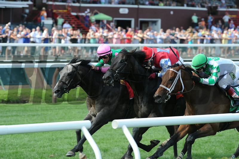 Pure Sensation wins the 2014 Quick Call Stakes. <br /> Coglianese Photos/Adam Mooshian