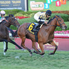 Twilight Eclipse wins the 2014 Mac Diarmida Stakes at Gulfstream Park. <br /> Coglianese Photos/Lauren King