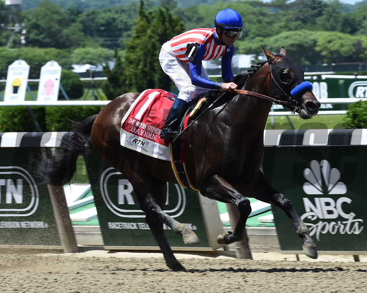Bayern wins the 2014 Woody Stephens Stakes at Belmont Park.<br /> Coglianese Photos/Courtney Heeney