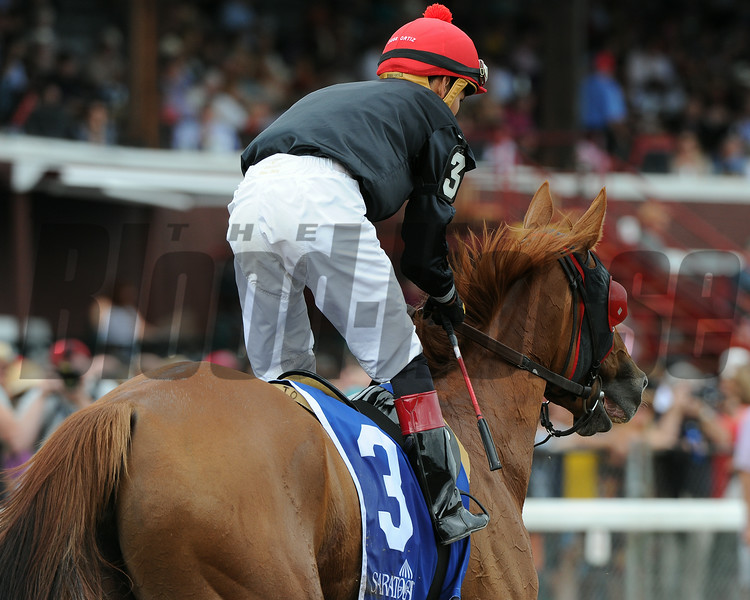 Abaco wins the 2014 Ballston Spa at Saratoga.<br /> Coglianese Photos