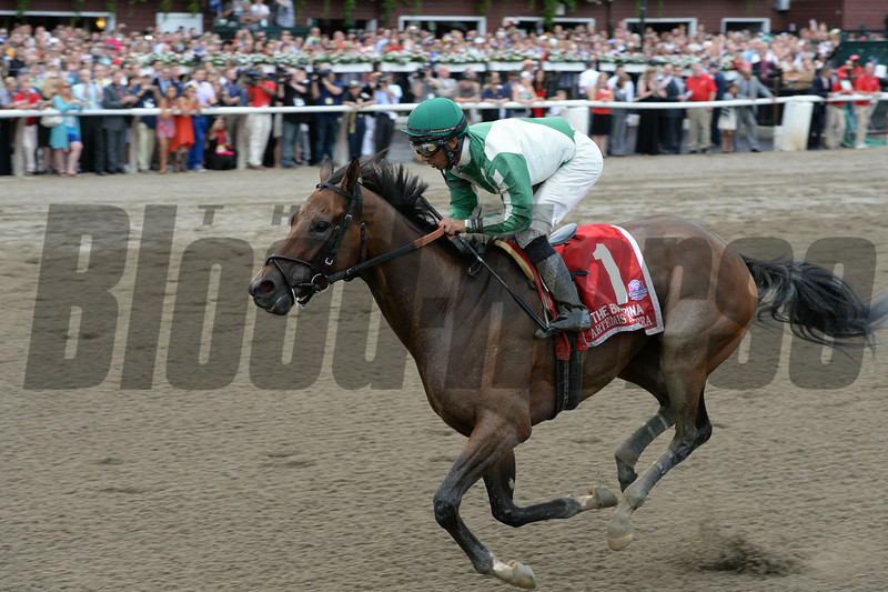 Artemis Agrotera wins the 2014 Ballerina Stakes at Saratoga.<br /> Coglianese Photos/Chelsea Durand