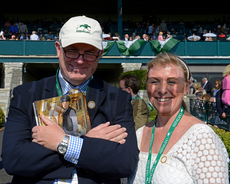 Caption: David and Ann Hanley with WinStar and Whitechurch <br /> Undercard stakes at Keeneland near Lexington, Ky., on April 12, 2014.<br /> Undercard2 image865<br /> Photo by Anne M. Eberhardt