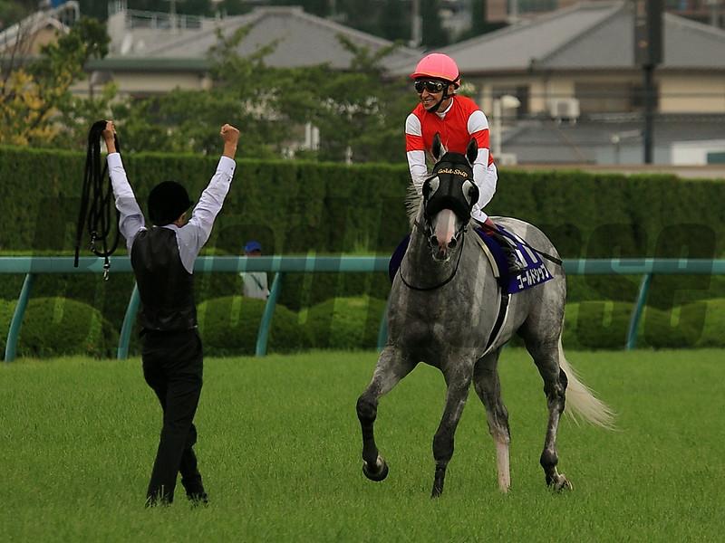 Gold Ship wins the 2014 Takarazuka Kinen.<br /> Naoji Inada Photo