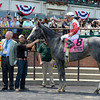 Caption: Norumbega wins the Brooklyn. Owner STuart Janney on left.<br /> Belmont Stakes day on June 7, 2014, at Belmont Park in Elmont, N.Y.<br /> 3-Brooklyn1 image497<br /> Photo by Anne M. Eberhardt