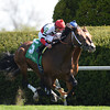 Keeneland Spring 2014; Lexington; KY; photo by Mathea Kelley, Marchman, Robby Albarado up, wins the Shakertown Stakes, 4/12/14