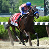 Bayern with jockey Gary Stevens wins the 30th running of The Woody Stephens at Belmont Park Saturday afternoon June 7, 2014.  Photo by Skip Dickstein