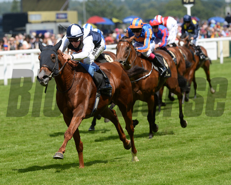 Richard Pankhurst, William Buick up, wins the Chesham Stakes, Royal Ascot, Ascot Race Course, England, 6/21/ 2014 <br /> photo by Mathea Kelley,
