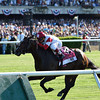 Real Solution wins the 2014 Knob Creek Manhattan Stakes (gr. IT) at Belmont Park.<br /> Coglianese Photos/Courtney Heeney