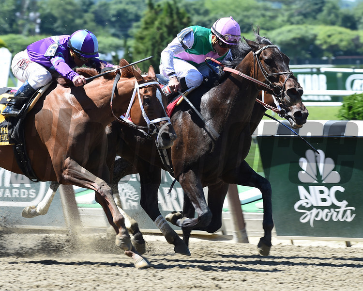 Close Hatches wins the 2014 Ogden Phipps Stakes.<br /> Coglianese Photos/Courtney Heeney