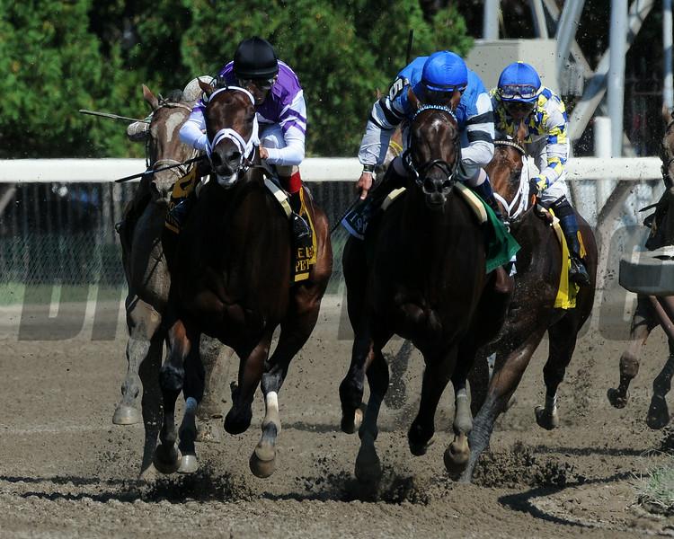 Competitive Edge wins the Hopeful Stakes at Saratoga 9/1/2014.<br /> Coglianese Photos/Eddie Davis