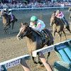Palace wins the 2014 Forego Stakes at Saratoga.<br /> Coglianese Photos/Chelsea Durand
