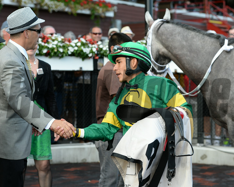 Stonetastic wins the 2014 Prioress at Saratoga. <br /> Coglianese Photos