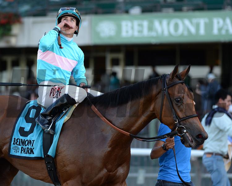Lady Eli wins the Miss Grillo Stakes.<br /> Coglianese Photos/Joe Labozzetta