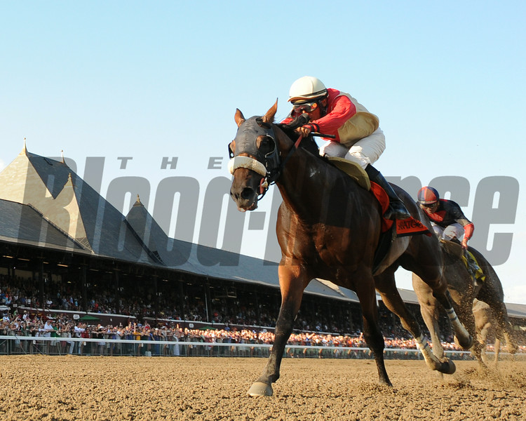 Wicked Strong wins the 2014 Jim Dandy at Saratoga.<br /> Coglianese Photos