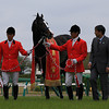 Isla Bonita wins Japan's Satsuki Sho April 20, 2014.<br /> Naoji Inada Photo.