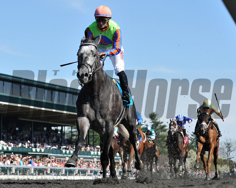 Frac Daddy wins the 2014 Ben Ali at Keeneland.<br /> Mathea Kelley Photo