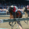 Wicked Strong wins the 2014 Jim Dandy at Saratoga.<br /> Coglianese Photos/Joe Labozzetta