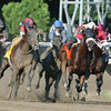 Wicked Strong wins the 2014 Jim Dandy at Saratoga.<br /> Coglianese Photos/Eddie Davis