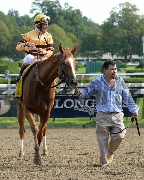 Wise Dan wins the 2014 Bernard Baruch at Saratoga.<br /> Coglianese Photos