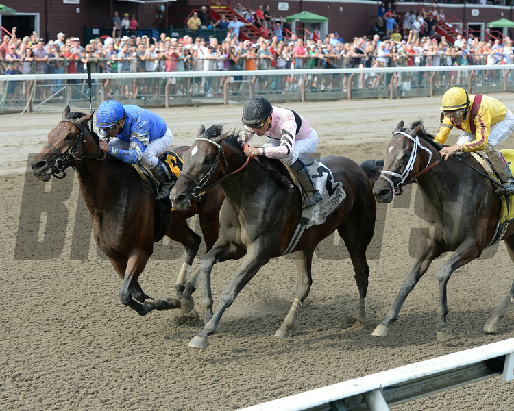 Better Lucky wins the Shine Again Stakes 7/21/2014.<br /> Coglianese Photos/Chelsea Durand