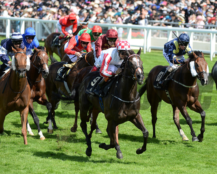 Sole Power, Richard Hughes up wins the Kings Stand Stakes, Royal Ascot, Ascot Race Course, England, 6/17/14 photo by Mathea Kelley