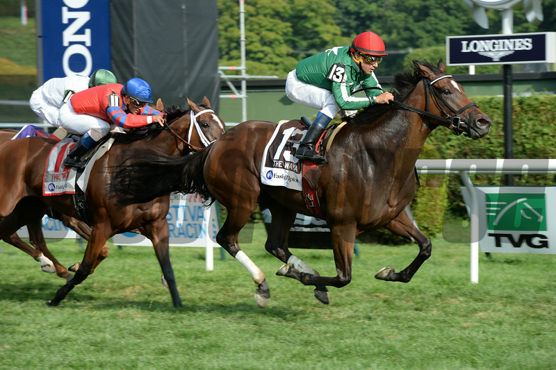 Cat's Claw wins the 2014 Fasig-Tipton Waya Stakes.<br /> Coglianese Photos.