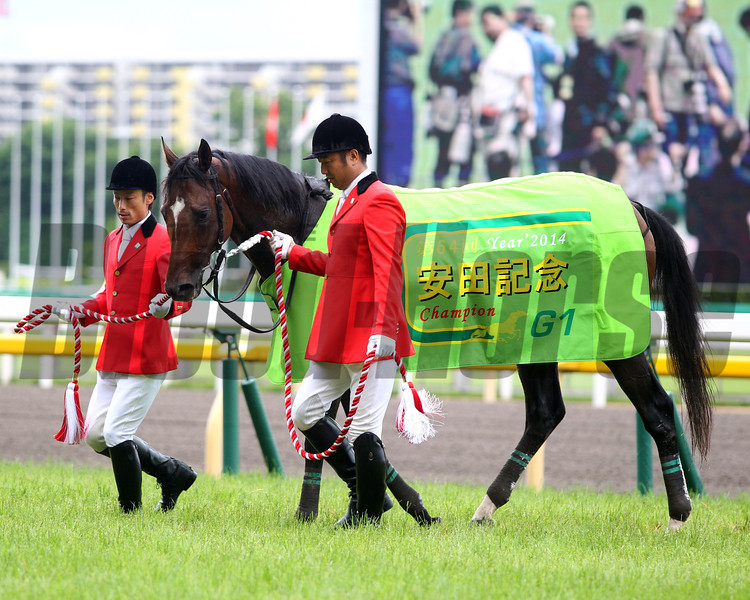 Just A Way wins the Yasuda Kinen in Japan.<br /> Masakazu Takahashi Photo