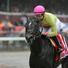 Condo Commando wins the Spinaway Stakes at Saratoga August 31, 2014.<br /> Coglianese Photos/Adam Mooshian