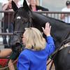 Demonstrative wins the 2014 Lonesome Glory Handicap at Belmont Park. <br /> Coglianese Photos.