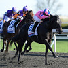 Keeneland Spring 2014; Lexington; KY; photo by Mathea Kelley, Dance with Fate, Cory Nakatani up, wins the Bluegrass Stakes, 4/12/14