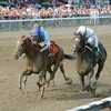 V. E. Day wins the 2014 Curlin Stakes at Saratoga.<br /> Coglianese Photos/Chelsea Durand