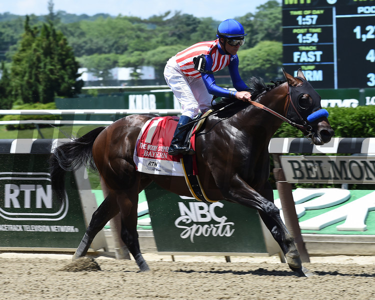Bayern wins the 2014 Woody Stephens Stakes.<br /> Coglianese Photos/Courtney Heeney