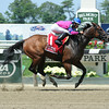 La Verdad wins the 2014 Dancin Renee Stakes at Belmont Park. <br /> Coglianese Photos