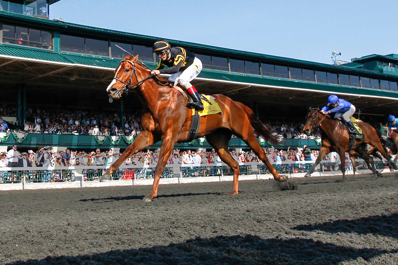 Judy the Beauty with John Velazquez aboard wins The 13th Running of the Madison (Grade I) at Keeneland on April 12, 2014 in Lexington, Ky.  Photo by Mark Mahan