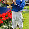 Racing from Ascot 26/7/14. King George V! and Queen Elizabeth Stakes.<br />  Paul Hanagan and trophy<br /> Trevor Jones Photo