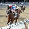 Ostrolenka wins the 2014 Sleepy Hollow Stakes at Belmont Park. <br /> Coglianese Photos/Chelsea Durand