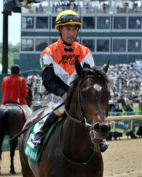 Global View wins the Grade II American Turf Stakes at Churchill Downs on May 3, 2014.<br /> Photo by: Dave W. Harmon