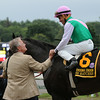 Close Hatches wins the 2014 Personal Ensign at Saratoga.<br /> Coglianese Photos/Adam Mooshian