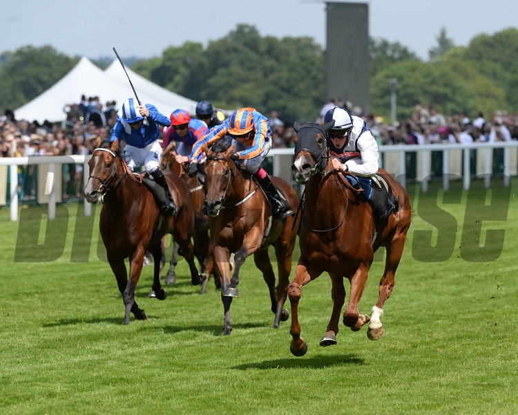 Richard Pankhurst, William Buick up, wins the Chesham Stakes, Royal Ascot, Ascot Race Course, England, 6/21/14 photo by Mathea Kelley,