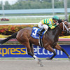 Onlyforyou wins the 2014 Forward Gal Stakes.<br /> Coglianese Photos/Natalie Fawkes