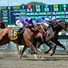 Caption: Close Hatches (center, pink/green) with Joel Rosario wins the Ogden Phipps (gr. I). second was Princess of Sylmar (outside 6) with Antipathy (inside) in third. <br /> Belmont Stakes day on June 7, 2014, at Belmont Park in Elmont, N.Y.<br /> 7-OgdenPhipps1 image620<br /> Photo by Anne M. Eberhardt