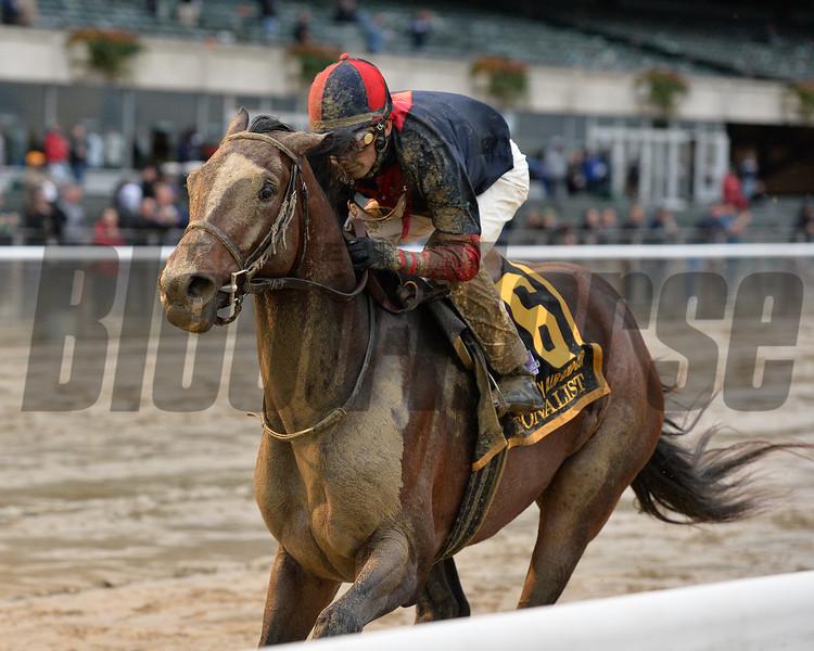 Tonalist wins the 2015 Jockey Club Gold Cup.<br /> Coglianese Photos/Joe Labozzetta