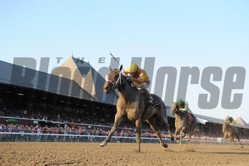 Cavorting wins the Prioress Stakes at Saratoga Sep. 6, 2015.<br /> Coglianese Photos/Adam Mooshian