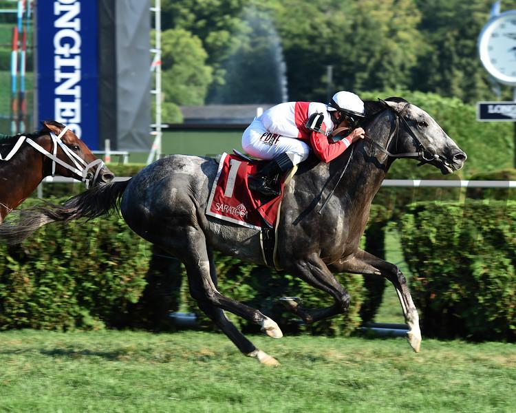 Ironicus wins the Bernard Baruch Handicap at Saratoga Sep. 7, 2015.<br /> Coglianese Photos