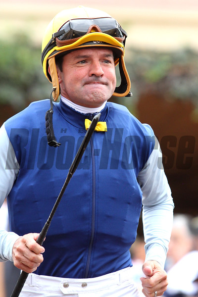 Jockey KENT DESORMEAUX at Santa Anita 06.27.15. Photo by Helen Solomon